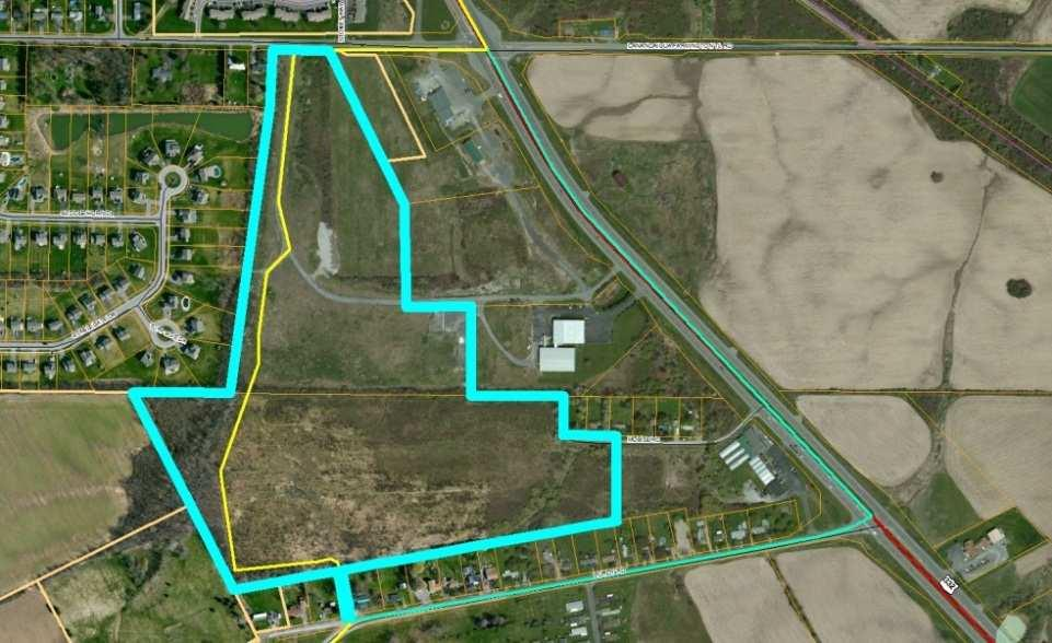 , Easements required, Has an access route to Purdy Rd.