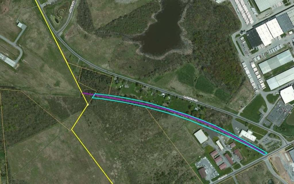 Preferred Alignment Features Batavia Branch Railroad Bed; Feeder Connection, Privately Owned Agreeable, Connection to North Street, Snowmobile Trail in Area; Extra signage Needed;