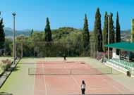 4* Daphnila Bay, Corfu 1 week all inclusive adult tennis holiday The Daphnila Bay Resort literally tumbles down the green landscaped hillside