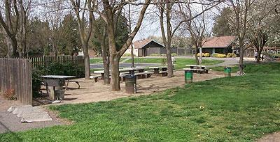 Picnic facilities 20% of outdoor constructed features in public and common