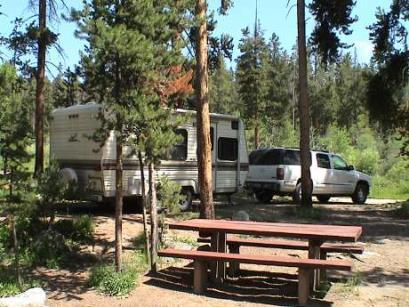 Camping facilities Camping unit outdoor space in a camping facility that contains outdoor constructed