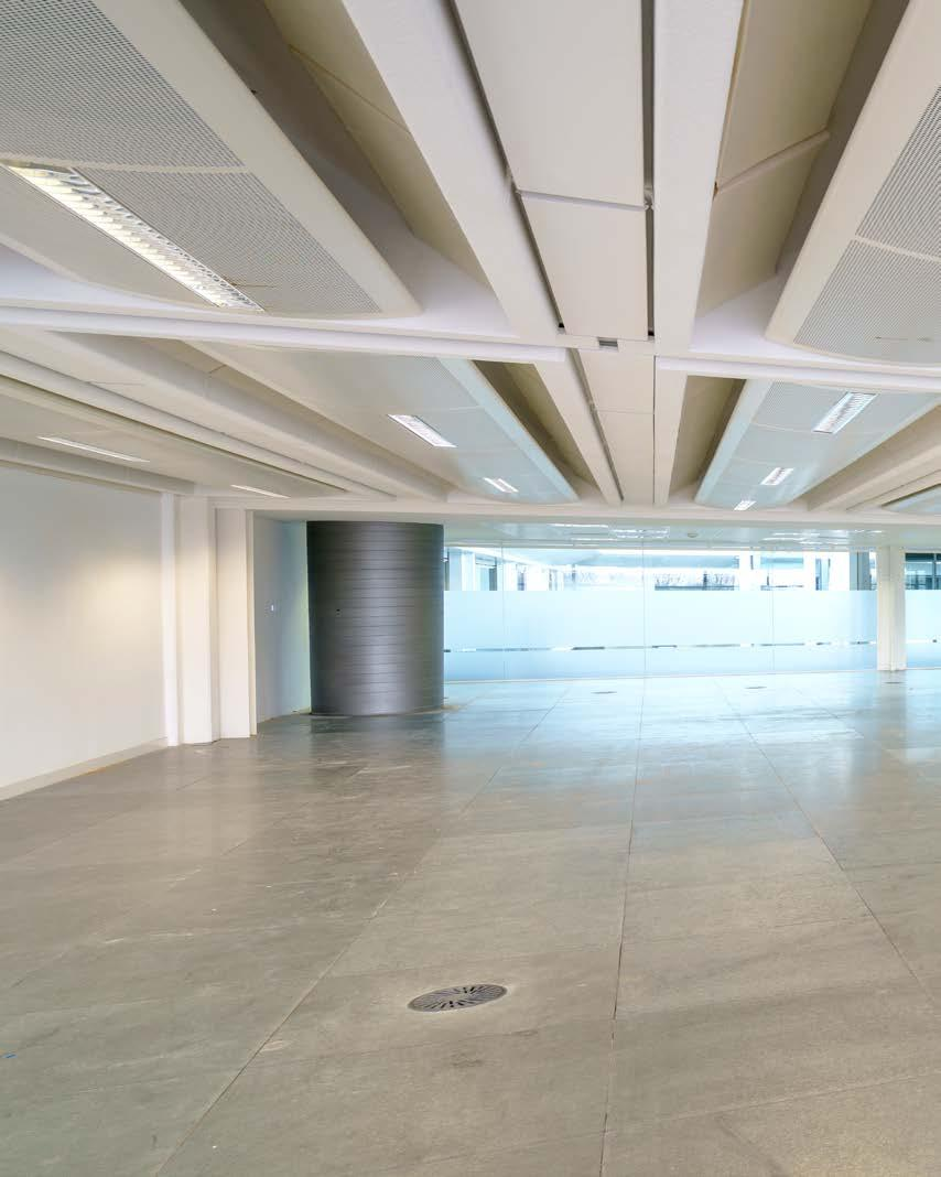 Belvedere House Open plan office accommodation surrounding an unusually large and impressive atrium, with 4 glazed passenger lifts Key Features Double height fully manned reception area Impressive