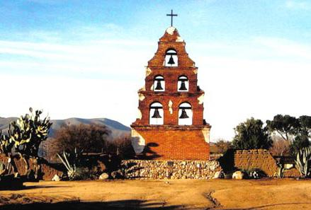 The town of San Miguel, likely began with the Rios-Caldeonia Adobe, which was constructed in 1835.