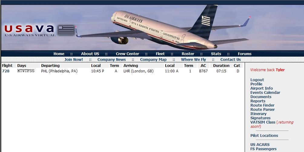 Once you have found a flight you would like to operate, click on the blue flight number in the far- left