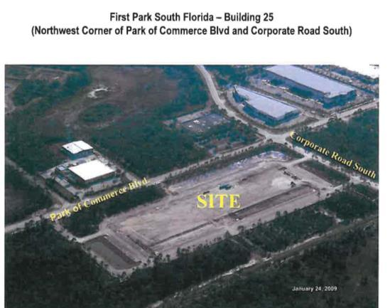 First Park South Florida Building 25 Location: 15335 Park of Commerce Blvd., Jupiter, FL 33478 Size: 13.