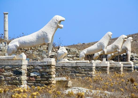 DELOS + PAROS Delos is a small island, rocky and barren, where light dominates from the first moments of the