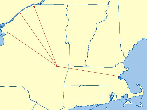 To enhance connectivity, Cape Air proposes an option for through service to Boston, via Albany Through service to Boston highlights Each flight would operate non-stop to Albany, then continue on to