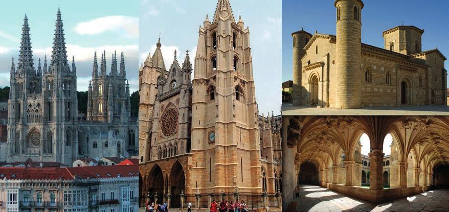 You can visit Monasterio de San Pedro Cardeña, Cartuja de Miraflores and other churches. Of course, the Burgos Cathedral is the most important building in the city. Accommodation in Burgos. Day 2.