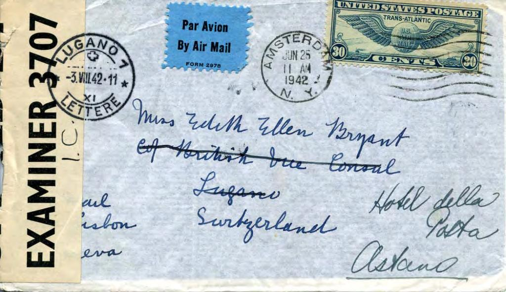 German Occupation of Vichy France, 1942: The Swiss Dis-Connection June 1942: Airmail to