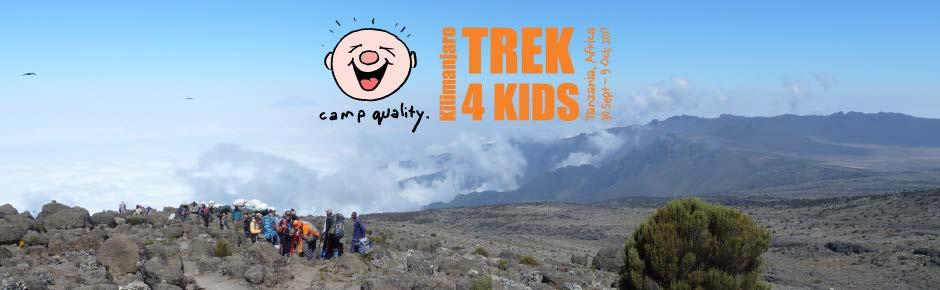 INFORMATION PACK ABOUT CAMP QUALITY TREK 4 KIDS.