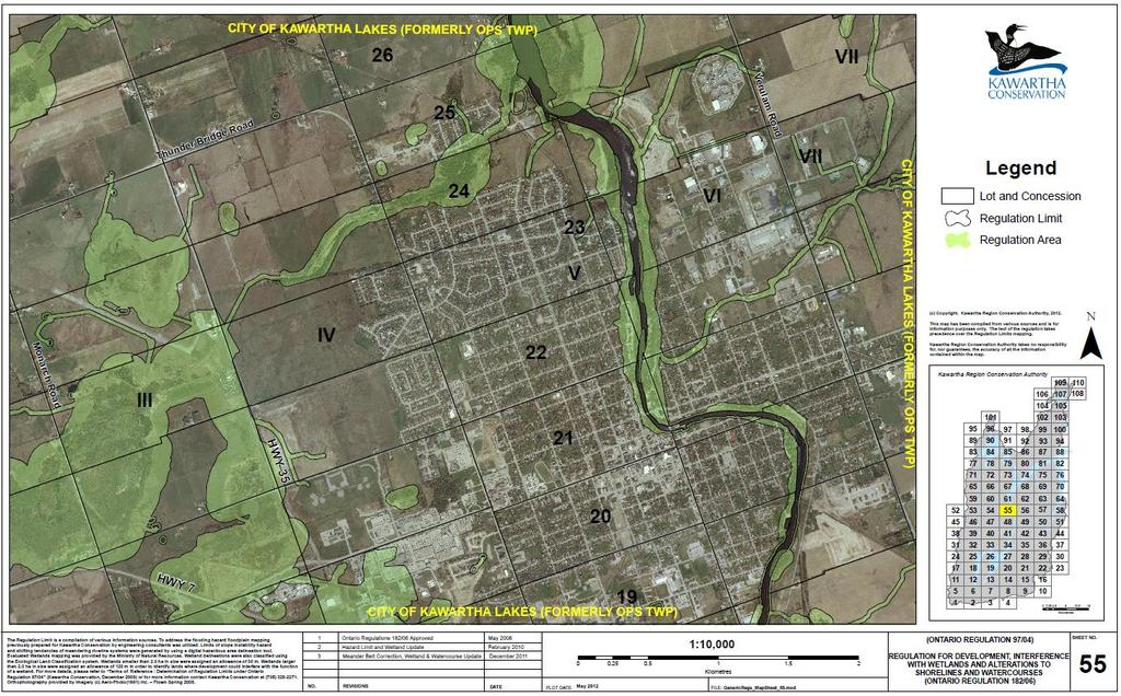 5. Close the airport Report ENG2017-008 Page 6 of 9 The Airport is located within the Kawartha Conservation Regulated Area, see Map below: The Airport was constructed as a general aviation facility