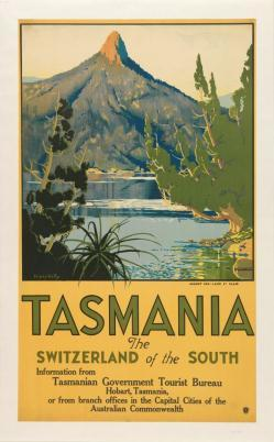 Tasmania: The Switzerland of the South Colour lithograph 1930s?