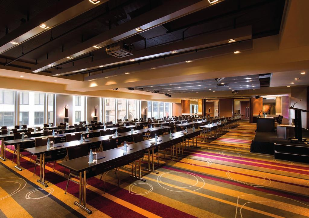MEETINGS & EVENTS CAPACITIES & DIMENSIONS TOTA L S Q F T TOTAL SQM ROOM SIZE (M) CEILING HT(M) C L A S S R O O M T H E AT R E D I N N E R DINNER & DANCE CABARET (8) R EC E P T I O N B OA R D R O O M