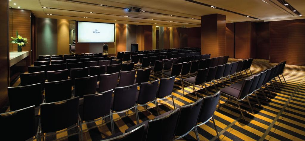 ROOM HIGHLIGHT Offering space for large meetings, conferences and executive roundtables, business is a pleasure at Hilton Sydney.
