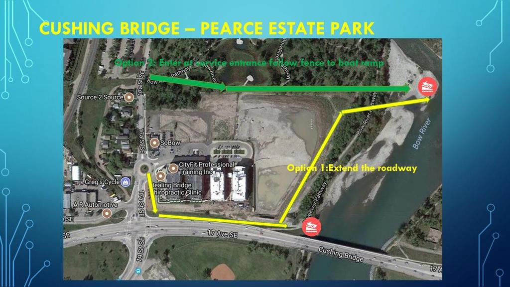 Harvie Passage roadway access options 2.