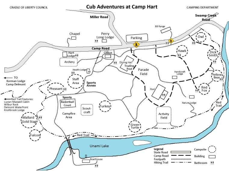 Camp Hart Map Station Locations will be