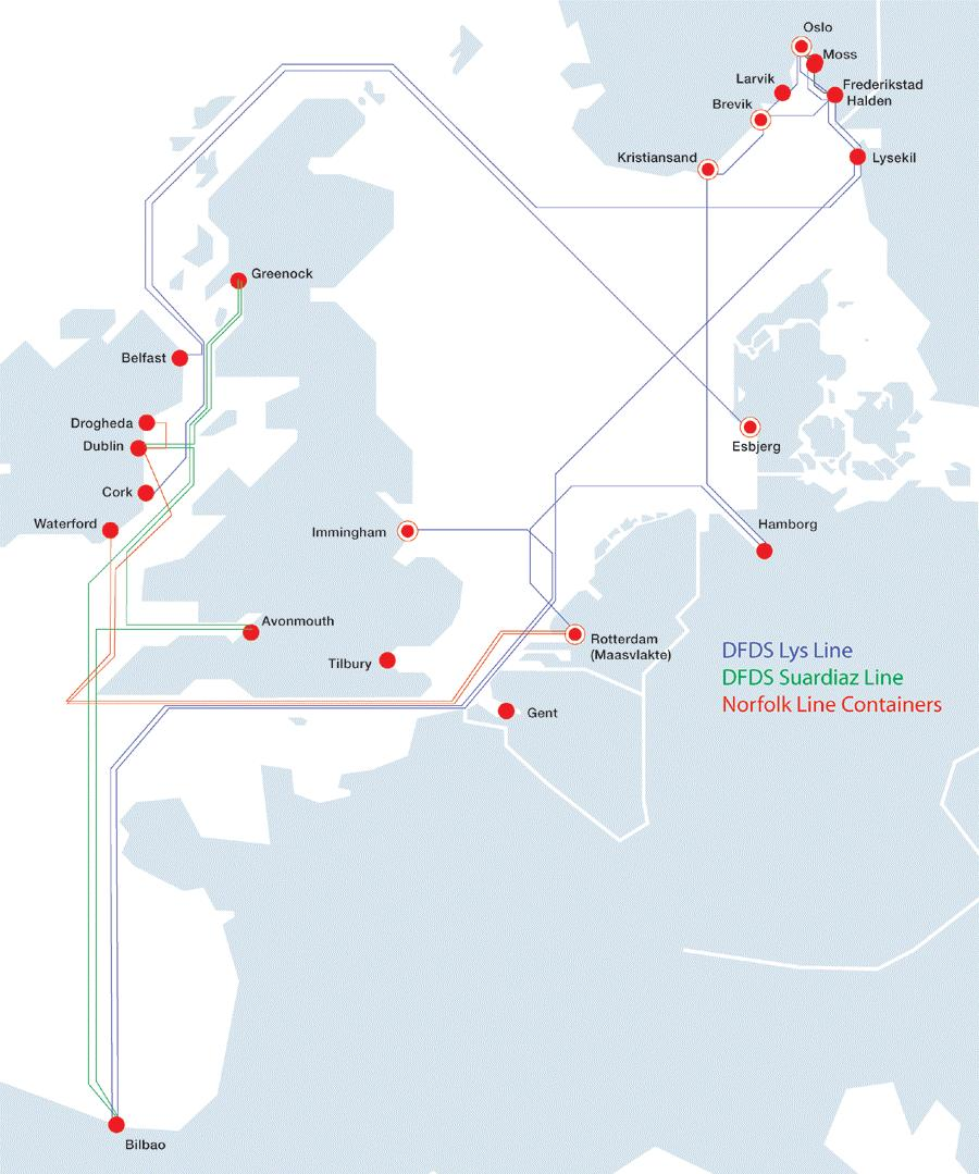 DFDS 1st half 2006 - Analyst presentation 24 Synergies for DFDS Integration into existing route network: DFDS Lys Line and DFDS Suardiaz Line Calls at Rotterdam to move to DFDS Maasvlakte Terminal