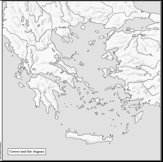 Macedonia Aegean Sea Troy Athens Sparta