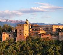 Granada is in the foothills of the Sierra Nevada mountains and is known for its rich, multicultural history and architecture.