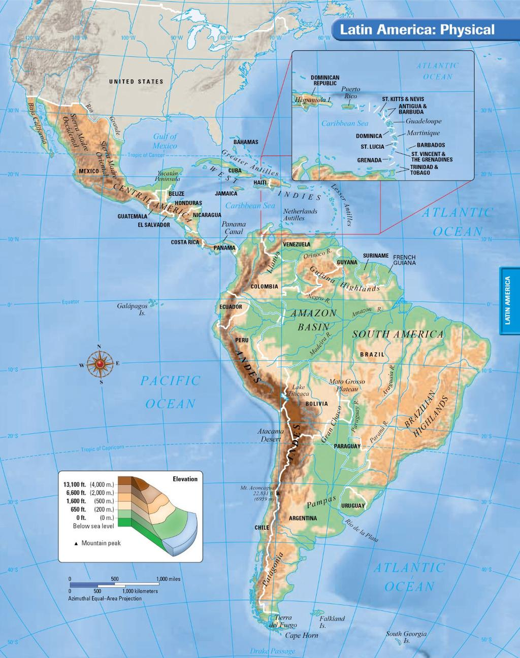 LATIN AMERICA: PHYSICAL GEOGRAPHY REVIEW All Kinds of Latitude