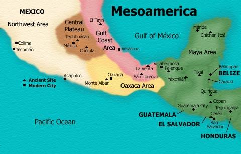 MESOAMERICA Cultural Region: - Extends from central Mexico à Costa Rica - Area where native groups