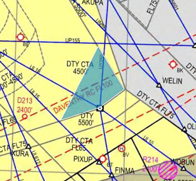 TEMPORARY SEGREGATED AIRSPACE 15. Access is granted to the portion of Class A airspace known as The Daventry Box.