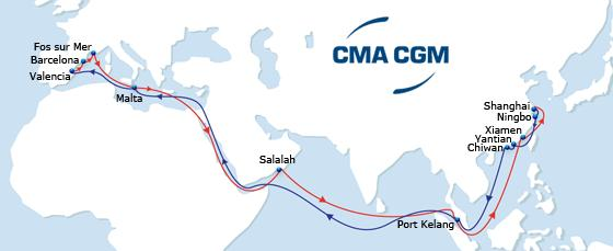 New 2015 ASIA - MEDITERRANEAN Services MEX 1 MEX 2 PHOEX BEX MEX 1 Eastbound Dedicated feeder network to all South East Asian ports New gateway from all Med ports to Indian Ocean via Salalah port