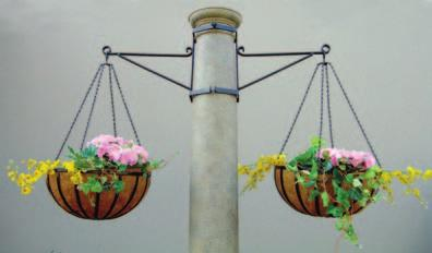One Way Hanging Basket Scroll can be made to mount on a wall or a pole. Custom sizes available.