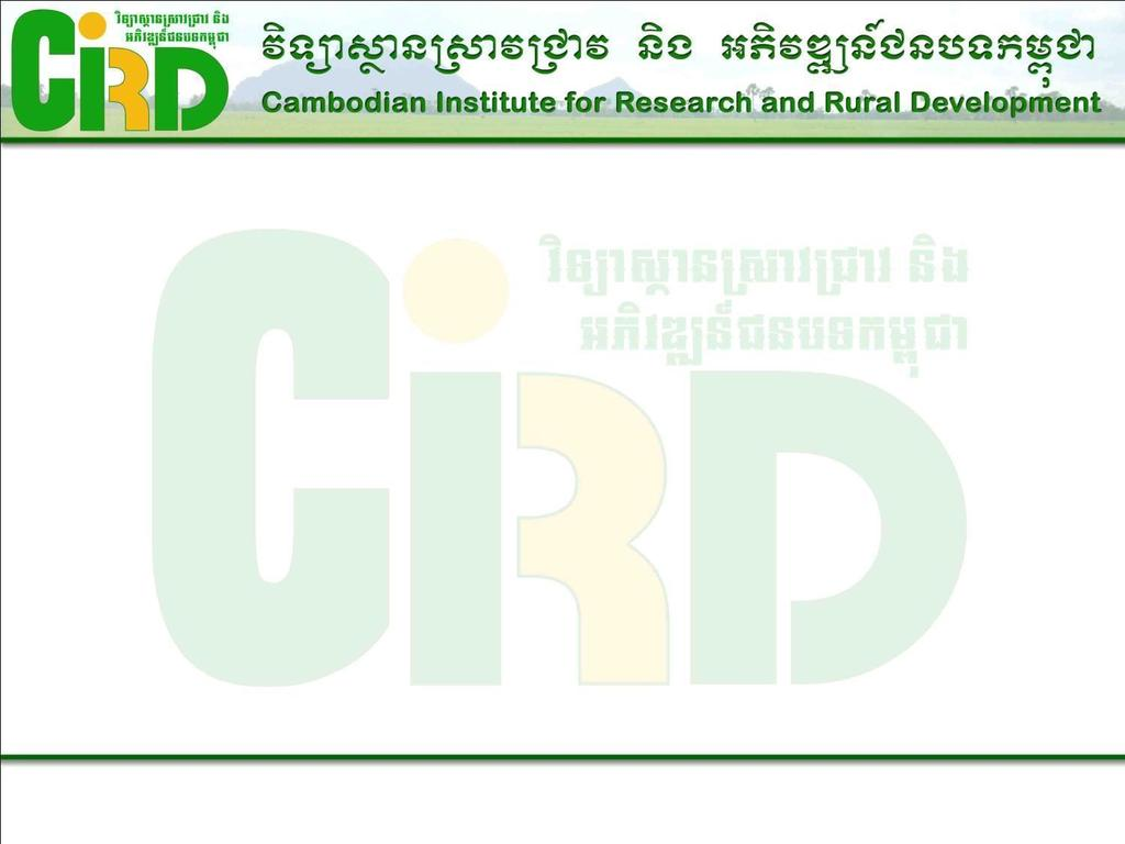 Kampot pepper Production and Common marketing Prepared for National Consultation Workshop Contract Farming and