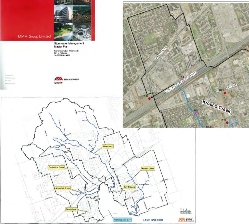a sewer north of Highway 401 to divert the flow from Krosno Creek to Pine Creek The Krosno Creek Diversion Study was
