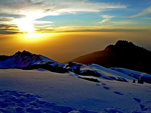 Kilimanjaro Mweka Camp 1 Night Expedition 8: CRATER CAMP UHURU PEAK (19,340 ft. / 5,895 m) MWEKA CAMP (10,070 ft. / 3,070 m) - Rise early to watch the sunrise from the summit, which will take about 1.