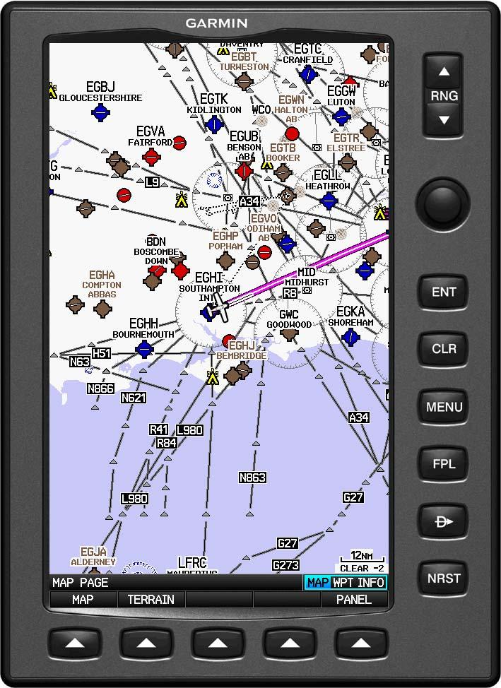 Dedicated IFR Page Map