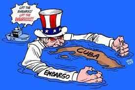 Castro s Impact on Cuba s Economy Due to the harsh events, US placed an embargo on goods from Cuba in 1962: Cuba s sugar cane crop could no longer be sold in the