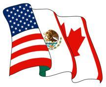 NAFTA On January 1, 1994, the North American Free Trade Agreement (NAFTA) came into effect. This was an agreement to allow free trade between Canada, Mexico, and the United States.