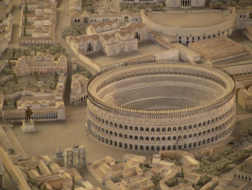 The Splendor of Rome: Colosseum At the colosseum was a huge arena, which could hold 50,000 people.