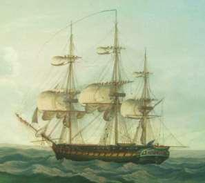 horizontal yards from which the principle sails are set; 2) this ship-rigged vessel of war is a FRIGATE because it has one covered, principle gun deck USS Constitution is therefore a FRIGATE by class