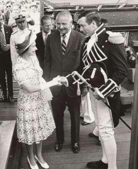 Her Royal Highness, Queen Elizabeth the Second Queen Elizabeth II visited USS Constitution in July, 1976 why?