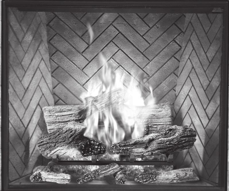 #20 for proper flame pattern. Open primary air shutter if the logs, glass, and firebox have carbon accumulation and / or the flames are long, dark and stringy.