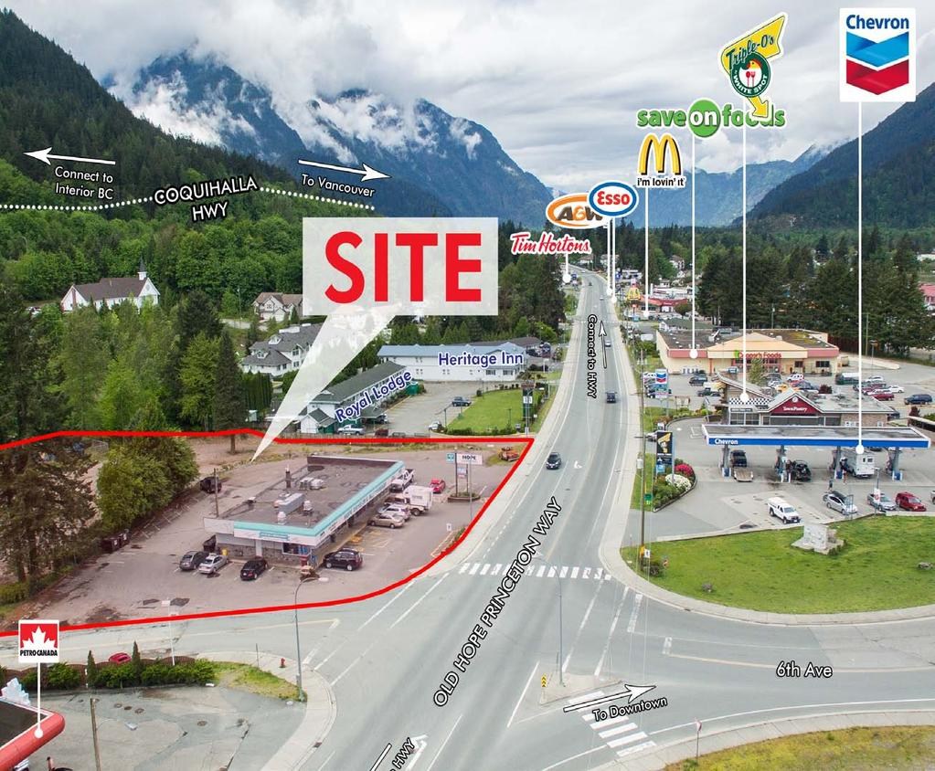 coquihalla junction NEW RETAIL & RESTAURANT OPPORTUNITY 588 & 590 Old Hope Princeton Way SUMMARY Hope is the gateway town connecting Greater Vancouver to the British Columbia interior and the rest of