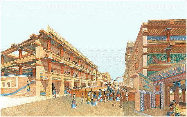 The Palace at Knossos Minoan civilization reached its height, or greatest success, between about 1700 B.C.E.