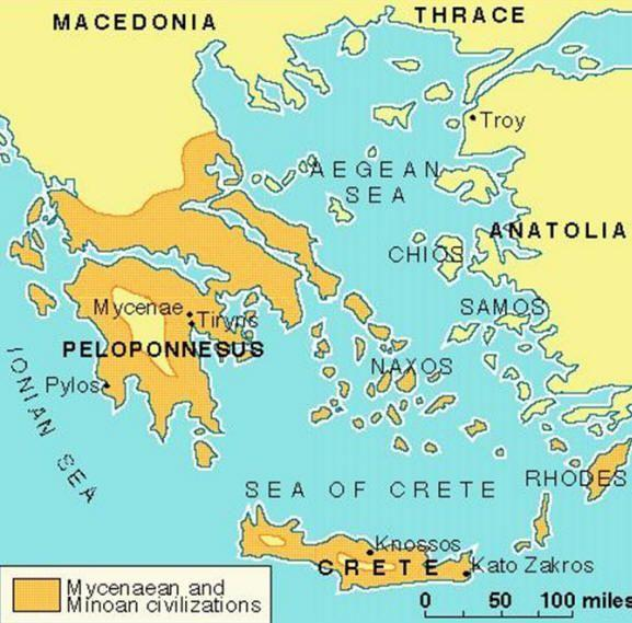 Minoans Prosper From Trade Located in the Aegean Sea, Crete was home to a