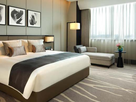 The rooms are spacious and luxurious, feature branded items like a Bose audio player or a Nespresso coffee