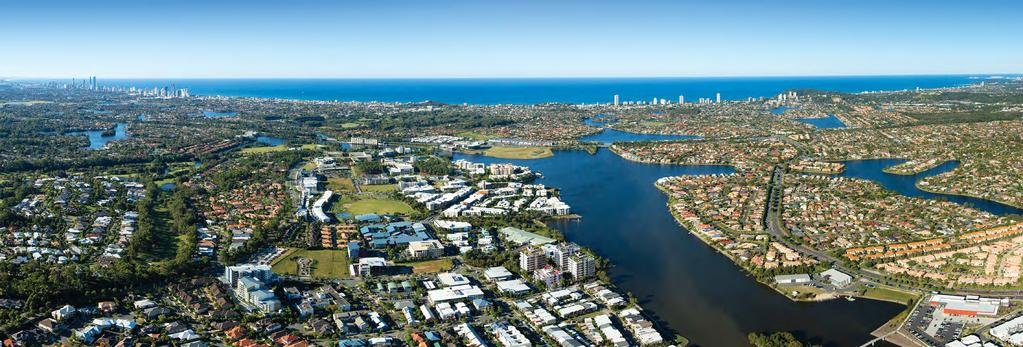AT THE HEART OF IT ALL VARSITY LAKES WALK OR RIDE TO EVERYWHERE Surfers Paradise 12.4km Gold Coast Convention Centre 9.4km Broadbeach 9.