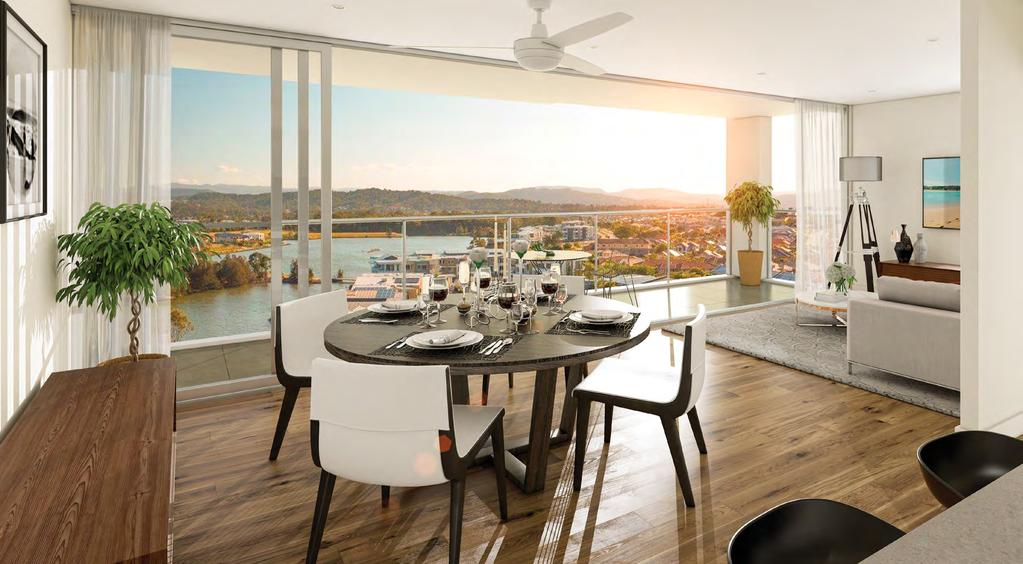 DESIGNED FOR YOUR LIFE, TODAY AND TOMORROW ARTIST S IMPRESSION TYPE D LIVING ROOM AURA VARSITY LAKES APARTMENTS, GOLD COAST WATERFRONT 2 AND 3 BEDROOM APARTMENTS AT AURA ARE A CONTEMPORARY STATEMENT