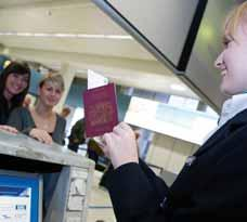 The check-in process Once you are in the correct terminal and you have your check-in desk number,