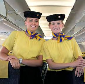 seat on the plane The cabin crew on the