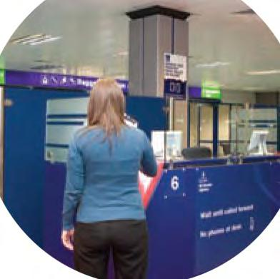 Once you are in the terminal you have to go through immigration. This means showing a member of staff your passport so they can check it and let you through to the baggage reclaim hall.
