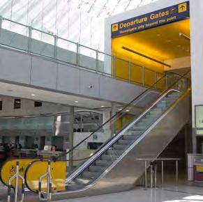 Lifts Escalators Check-in desks People