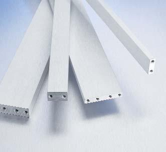 Snap-in Guides Mounting Bars (MB) Mounting Bars can be installed to support and position subassemblies. Holes located at Mounting Bar ends align with the assembly holes in side frames.