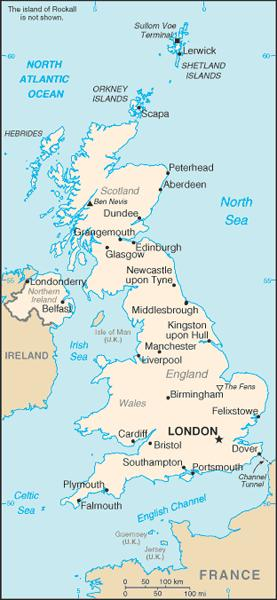 UK is a country of islands off the coast of mainland Europe.